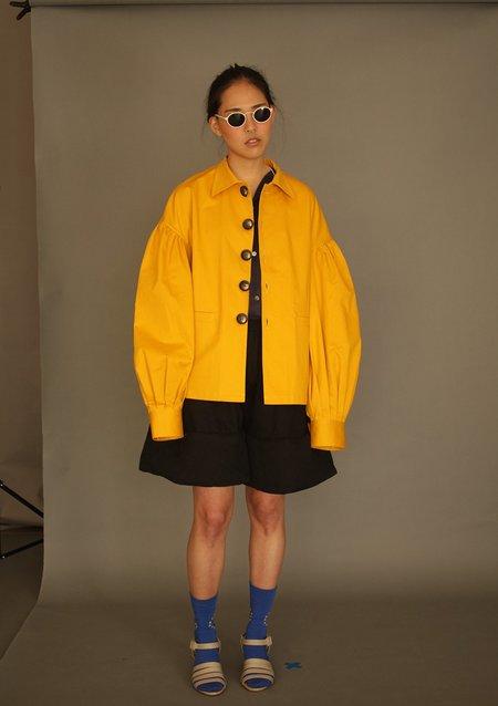 Unisex DANSHAN Lantern Sleeve Jacket - Yellow