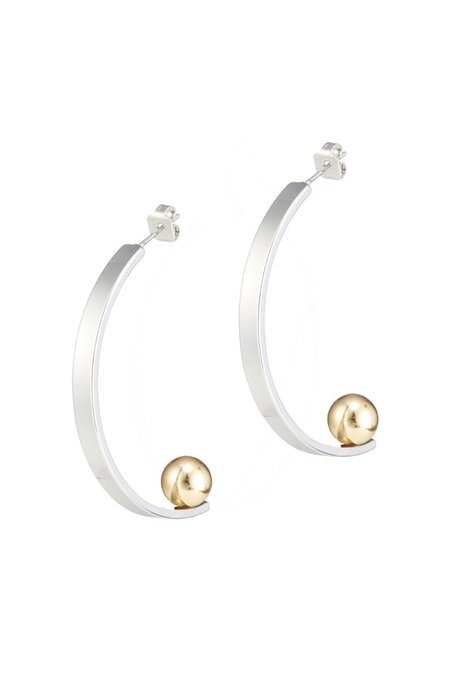 Jenny Bird Vela Earrings - Rhodium/Gold