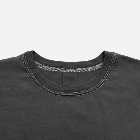 3Sixteen Garment Dyed Heavyweight Pocket T-Shirt - Charcoal