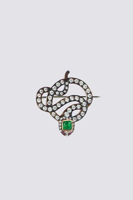 Apples & Figs Black Serpent Brooch