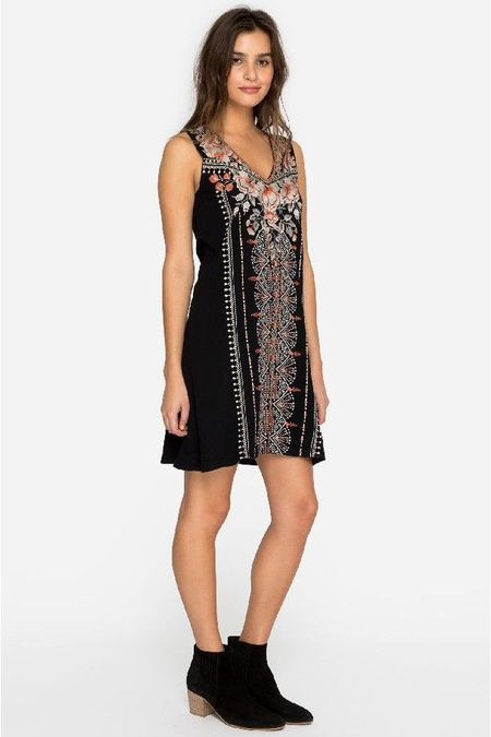 Johnny was CALIDA TUNIC DRESS - BLACK