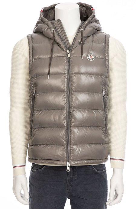 Moncler Lanoux Hooded Puffer Vest - Light Grey