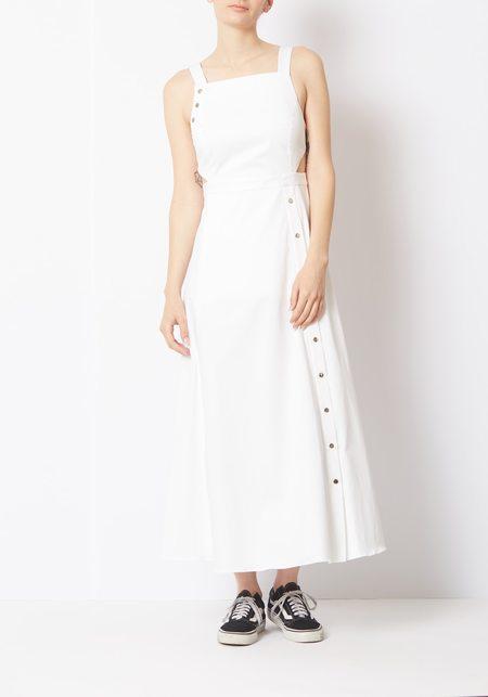 Tibi White Crosby Strappy Dress