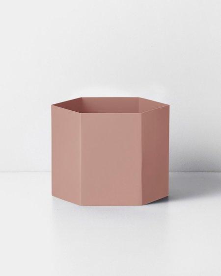 Ferm Living Extra Large Hexagon Pot - Rose