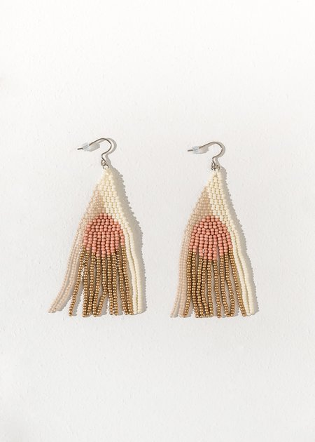 Of June Full Moon Two-tone Earring - Dusty Rose