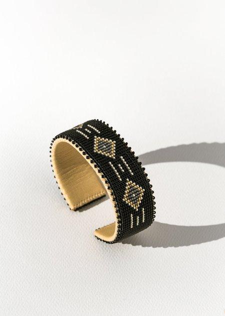 Etkie Kelly Glass Cuff - black/silver/gold