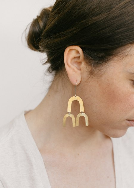 Lumafina Linu Balance Earrings - Brass