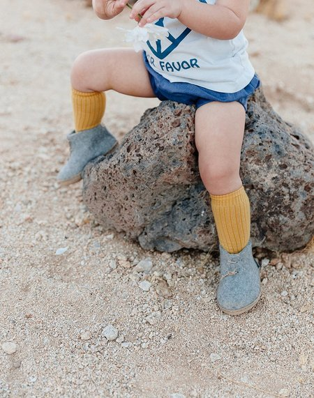 kids Glerups Wool Baby Boots - grey