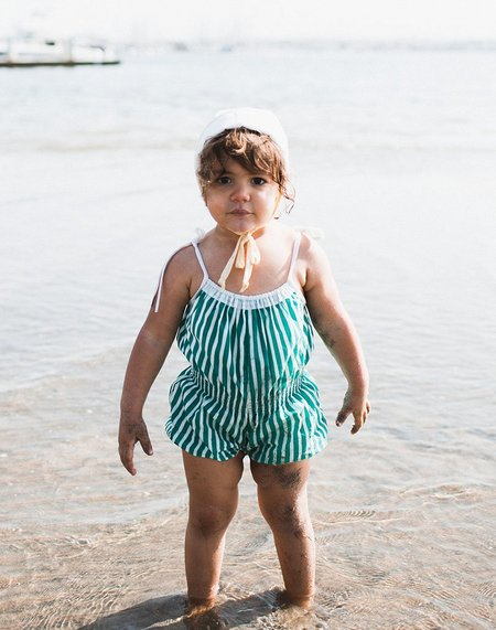 kids Wovenplay Organic Jada Sunsuit - Seafoam