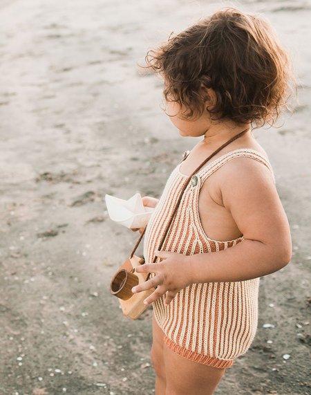 kids Misha & Puff Plum Island Playsuit - Clay