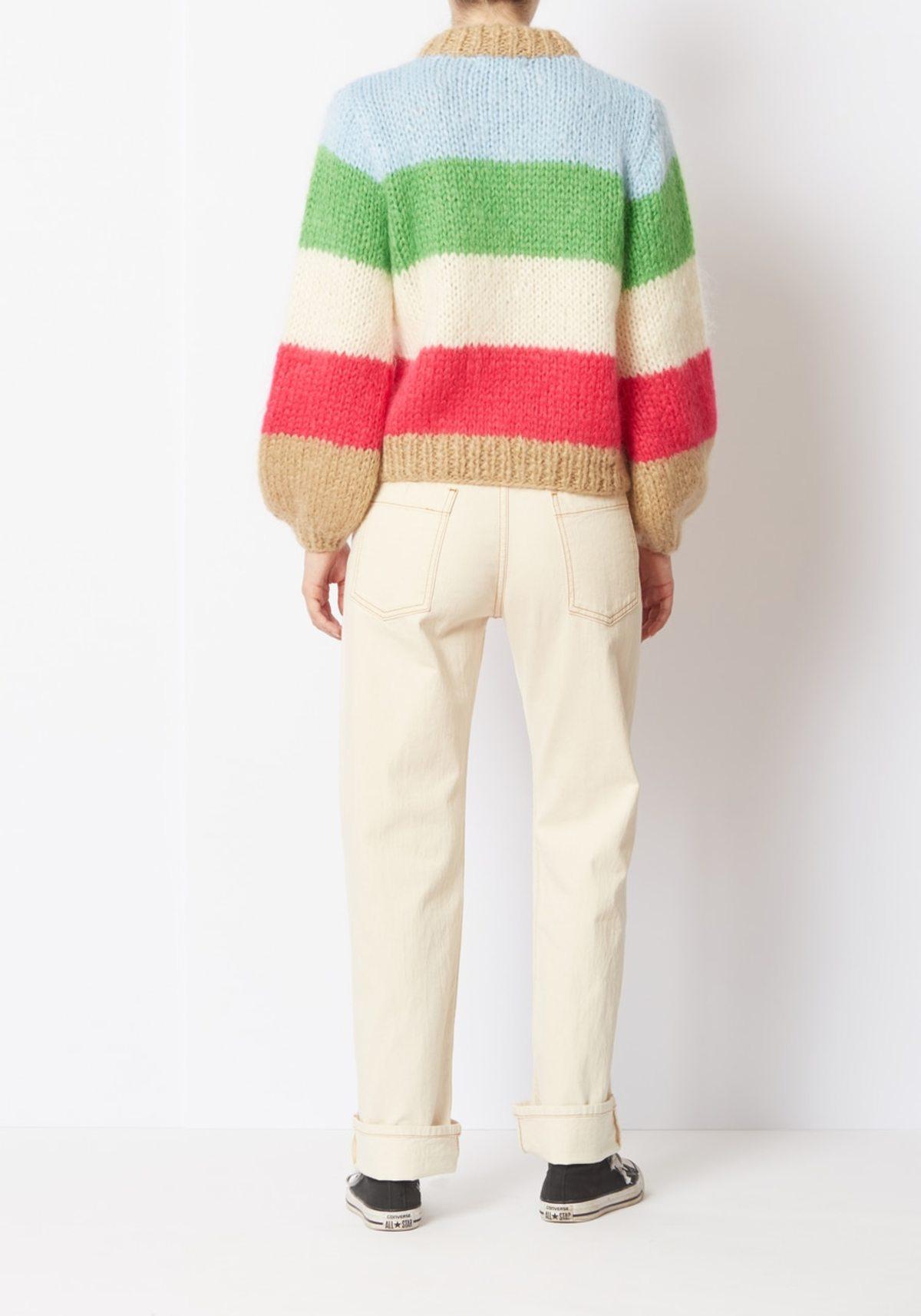 dbb03d43d4e22 Ganni Striped Julliard Mohair Sweater - Color Blocked