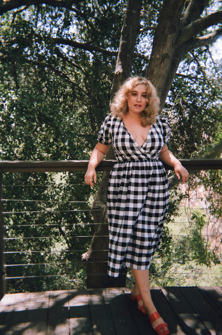 Lisa Says Gah For Garmentory   Topanga Midi Dress - Black + White Gingham