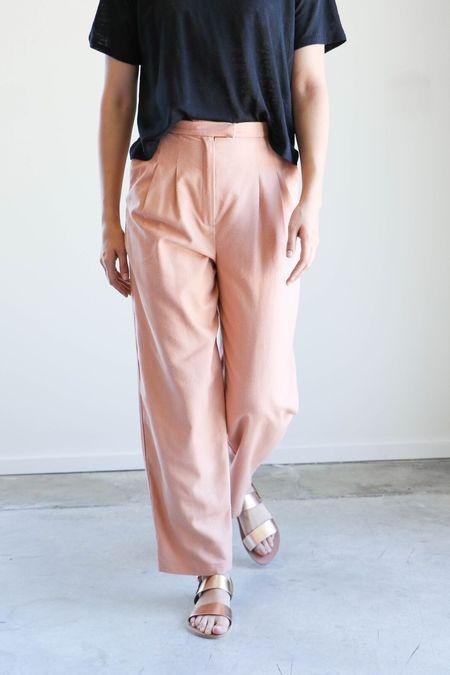 Heidi Merrick Kaolin Trouser - Blush