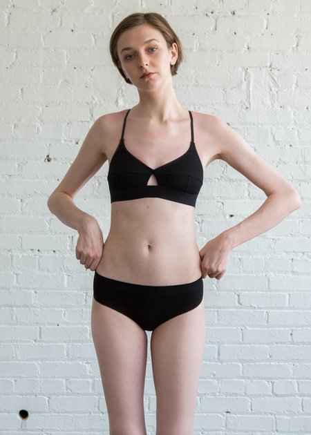 Baserange Seamless Fine Pants - Black