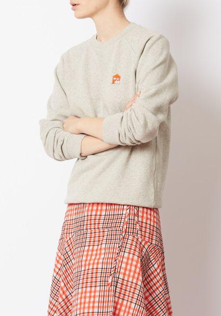 Ganni Lott Isoli Cottage Sweatshirt - Gray