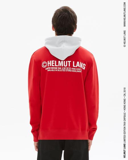 Helmut Lang Taxi Hoodie (Hong Kong) - red/silver