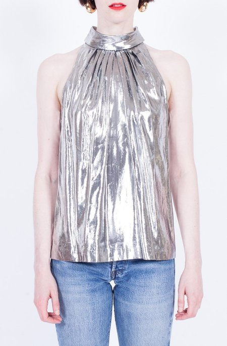 Yo Vintage! METALLIC TOP - silver