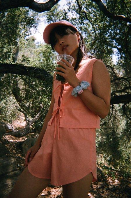 Lisa Says Gah Capri Linen Short - Mango