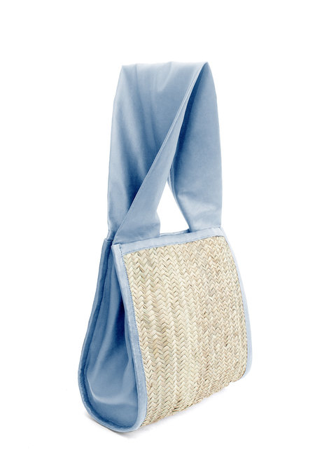 Parme Marin Straw-Ling Tote