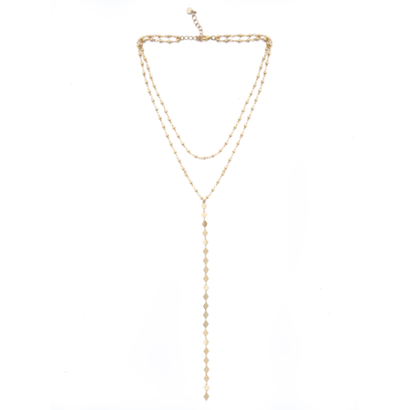 MOD + JO Daydream Layered Lariat Necklace - Gold