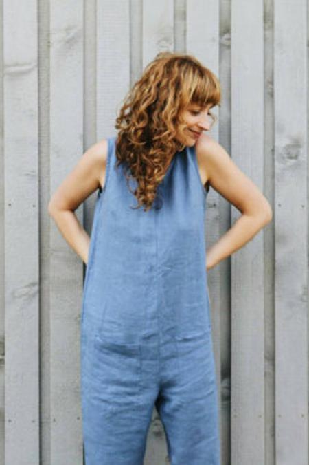 OffOn Clothing Sleeveless Jumpsuit - Light Blue
