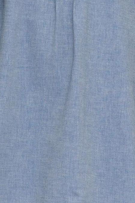 The Sleep Shirt Short Sleeve Cropped Shirt - Navy Twill