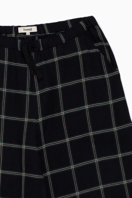 Samuji Lilo Trousers - Navy/Green/Ecru