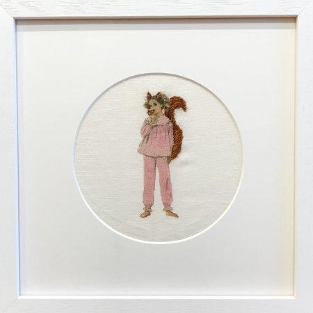 Littleshout 'Framed Embroidered Super Girls'