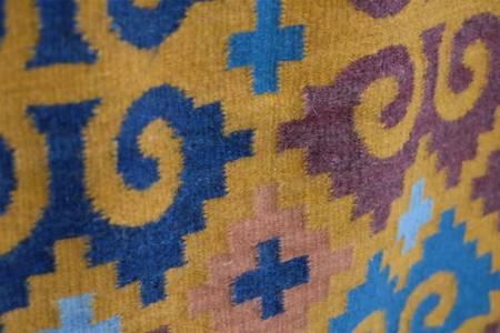XYZ Cooperative Custom Oaxacan Repeated Leaves Rug