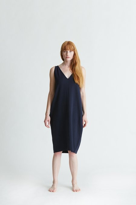 BLACK CRANE MULTI DRESS - Navy