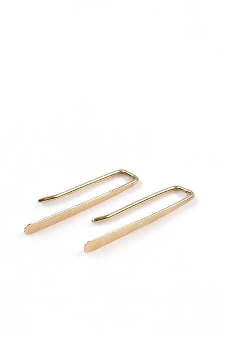 Emily Triplett Dash Earrings - Yellow Gold