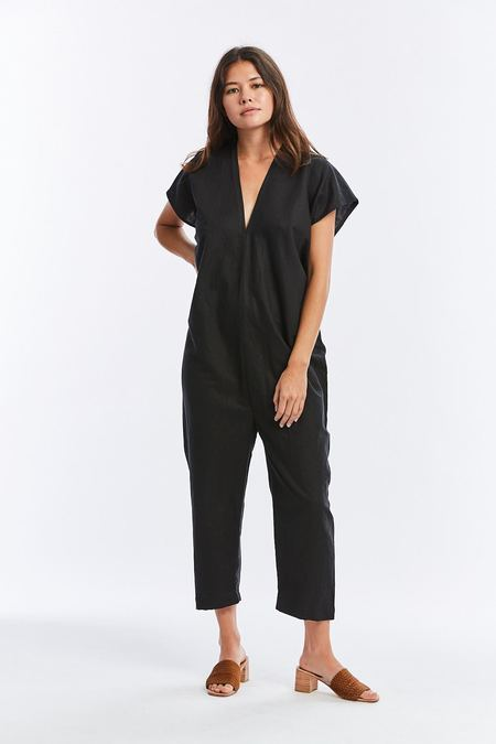 Miranda Bennett Linen Everyday Jumpsuit - Black