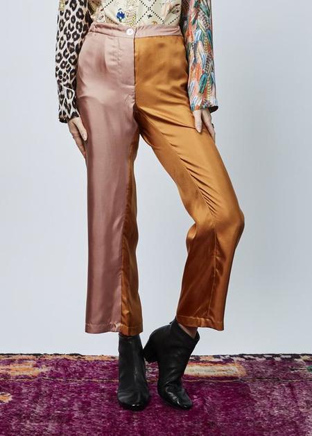 La Prestic Ouiston Miami Silk Pant - pink/orange