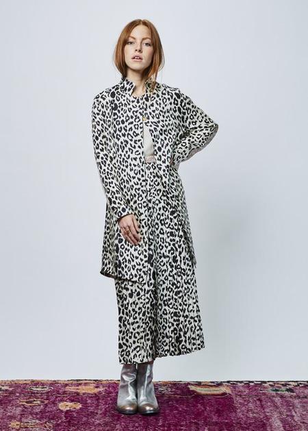 La Prestic Ouiston Single Button Silk Trench - Panther/Hearts