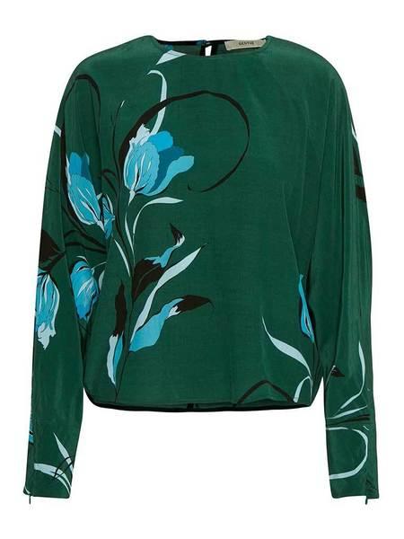 Gestuz Sille Blouse - Flower Green