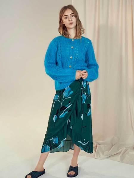 Gestuz Sille Skirt - Flower Green
