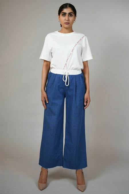 ROCKET X LUNCH String Band Denim Pants