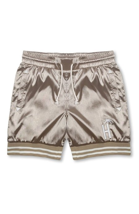 Unisex HOTEL 1171 Varsity Palm Shorts - Champagne