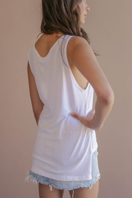 LNA Hanni Brushed Tank - White