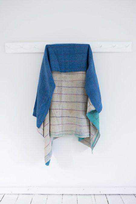 Karu Vintage Kantha Quilt - Blue/Green