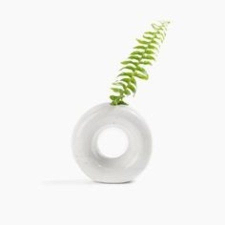 Lucy Michel ceramics Mini Round Vase - Matte White