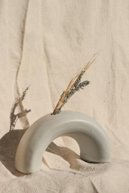 Lucy Michel Ceramics Arch Vase - Matte White