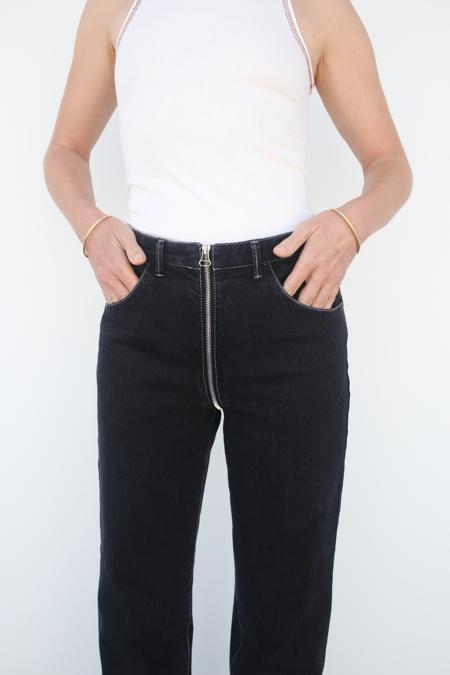 Lorod Denim Zip-Through Jean - Black