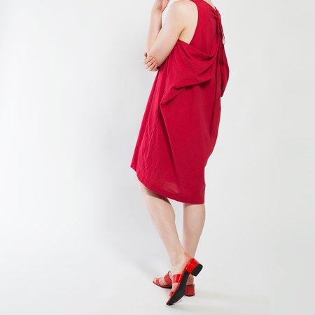 Uzi NYC Oxford Dress - Red
