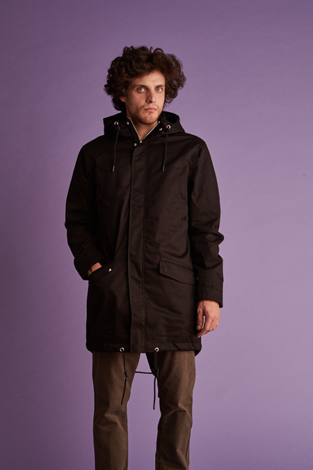 Wemoto TRADITIONAL PARKA WITH HOOD - BLACK