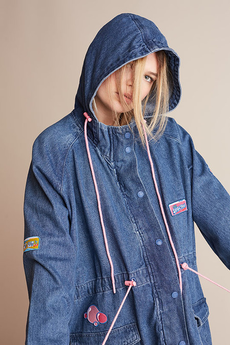 Lazy Oaf Bubble Denim Parka