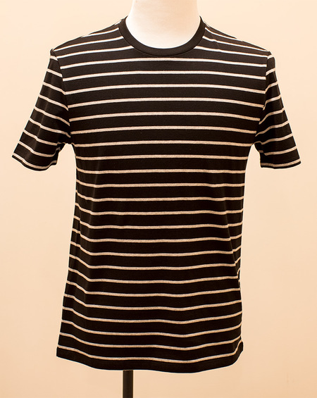 VINCE Heather Stripe Tee - Black