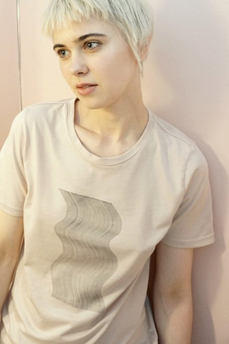 CALDER RAMPLING TEE with Joy Walker Illustration - Nude