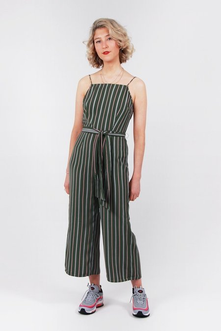 The Fifth Axial Stripe Jumpsuit - khaki