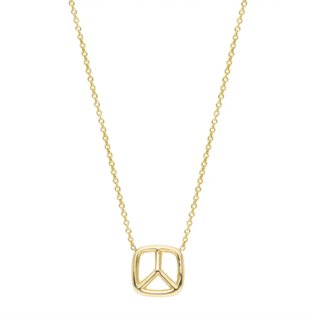 Hortense Peace Necklace - Yellow Gold